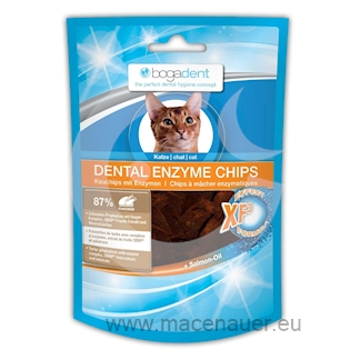 BOGAR bogadent DENTAL ENZYME CHIPS, kočka, 50 g