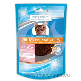 BOGAR bogadent DENTAL ENZYME CHIPS FISH, kočka, 50 g