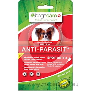 BOGAR bogacare ANTI-PARASIT SPOT-ON MINI, pes, 4x0,75ml