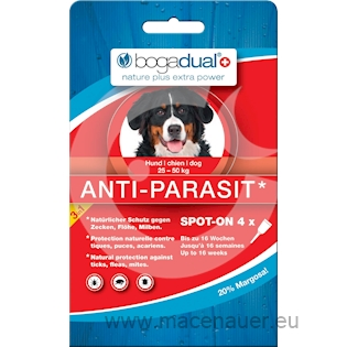 BOGAR bogadual ANTI-PARASIT SPOT-ON, pes, 25-50kg, 4x2,5ml