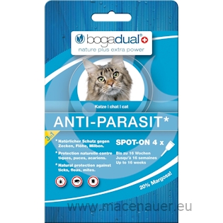 BOGAR bogadual ANTI-PARASIT SPOT-ON, kočka, 4x0,75ml