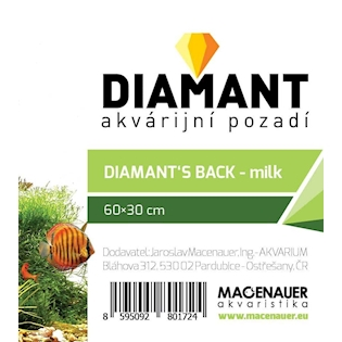 MACENAUER Pozadí pro akvárium DIAMANT - mléčné, 60x30 cm