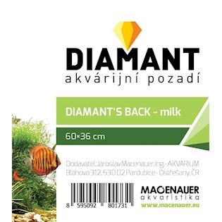 MACENAUER Pozadí pro akvárium DIAMANT - mléčné, 60x36 cm