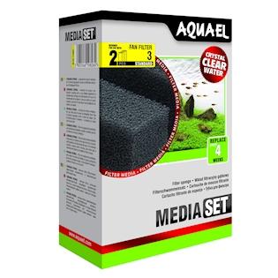 AQUAEL Příslušenství Filtrační houba pro filtr FAN 3 Plus, 2 ks