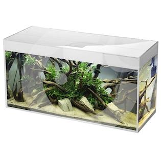 AQUAEL Akvarijní set GLOSSY SG 150, 405 l, bílé lesklé