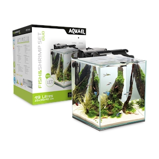 Aquael Akvárium Fish&Shrimp set 35 Black Duo, 49 l
