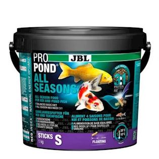 JBL Celoroční krmivo PROPOND ALL SEASONS S, 1,0 kg