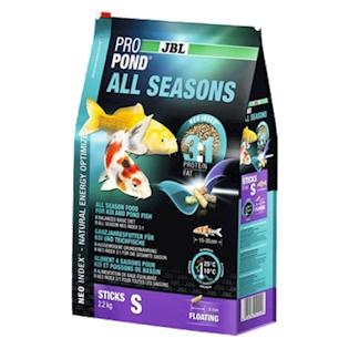 JBL Celoroční krmivo PROPOND ALL SEASONS S, 2,2 kg