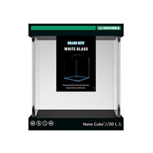 DENNERLE Nano Cube White Glass, 30L