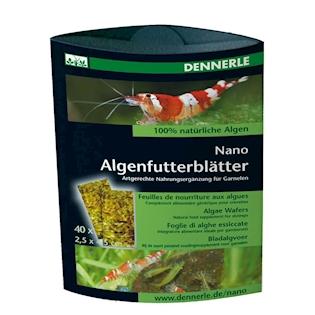 DENNERLE NANO Řasové plátky Algenfutterblätter 40 ks